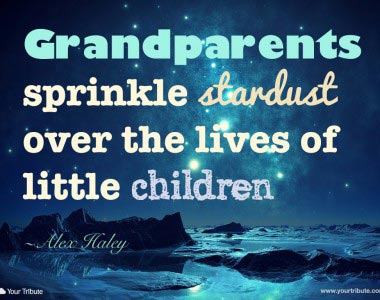 Alex Haley: Grandparents sprinkle stardust over…