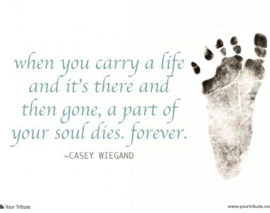 Casey Weigand: When you carry a life…