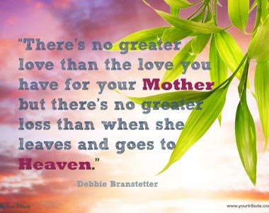 Debbie Branstetter: There's no greater love…