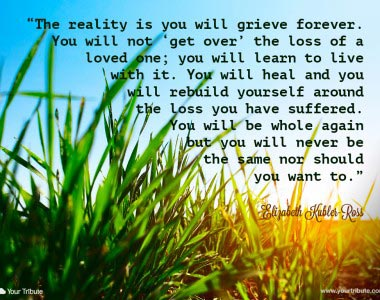 Elizabeth Kubler-Ross: The reality is you will…