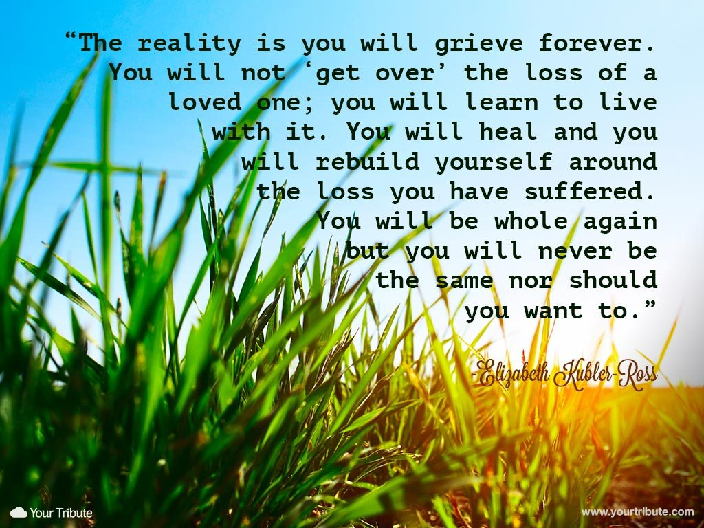 Quote | Elizabeth Kubler-Ross: The reality is... - Your Tribute