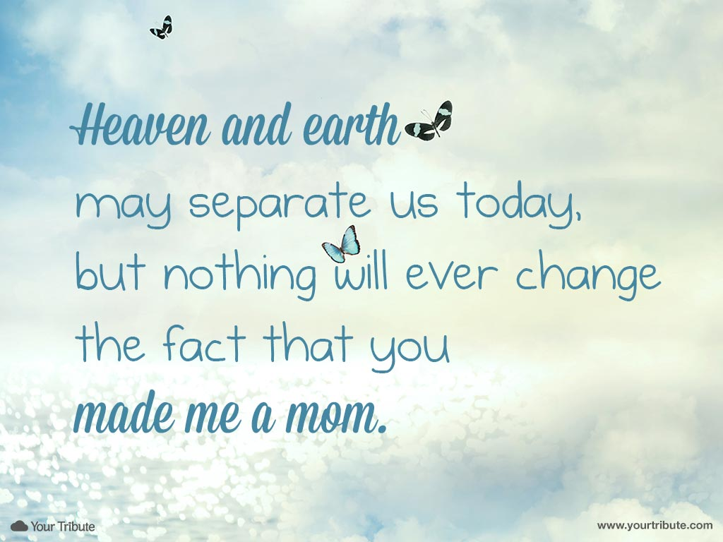 Quote | Heaven and earth may separate us... - Your Tribute