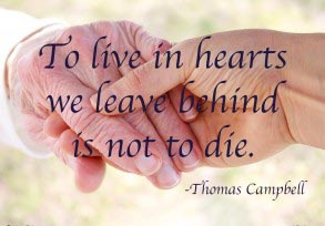 Thomas Campbell: To live in hearts…