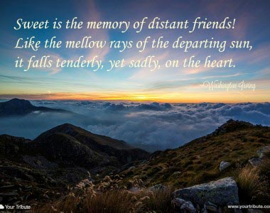 Washington Irving: Sweet is the memory…