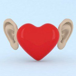 Hear with your ears and listen with your heart
